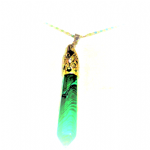 Malachite  PENDULUM Wand  Necklace ..  (925 Silver)